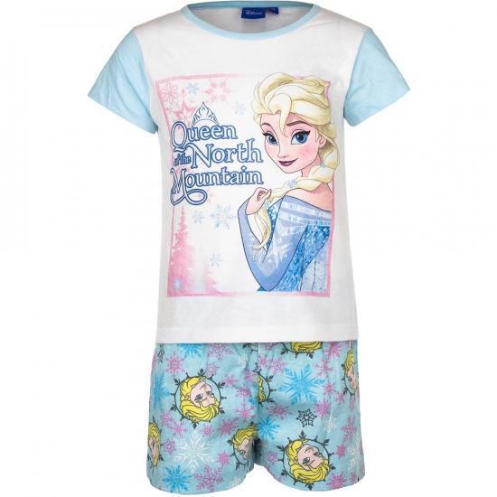 Frozen korte pyjama meisjes blauw-wit