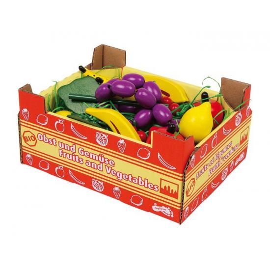 Fruit kist van hout 18 x 13 x 8 cm