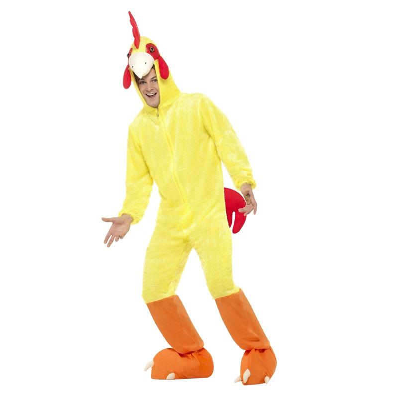 Geel kip-haan kostuum voor volwassenen