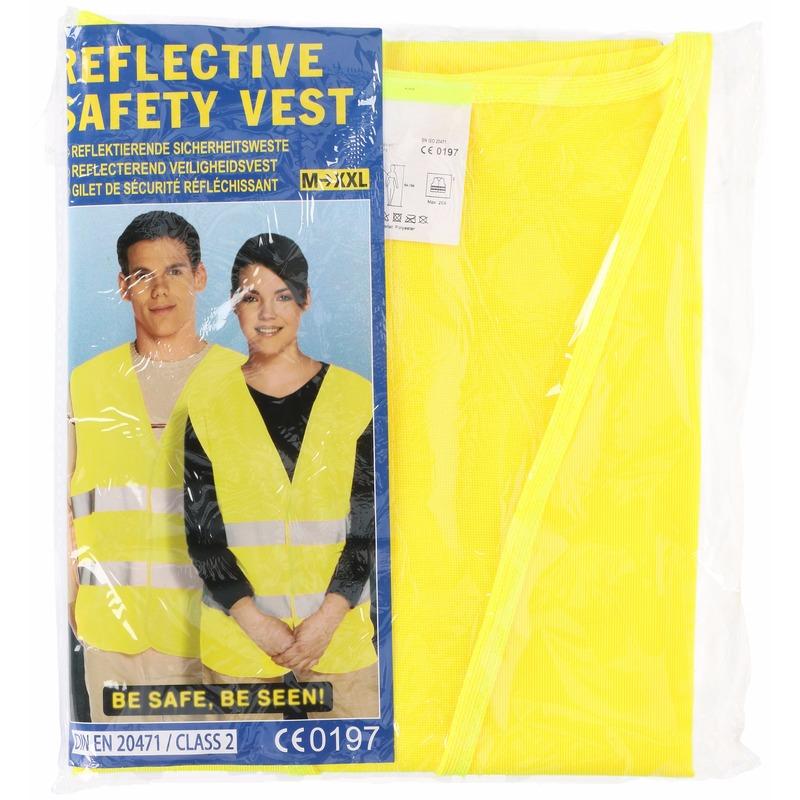 Geel veiligheidsvest voor volwassenen