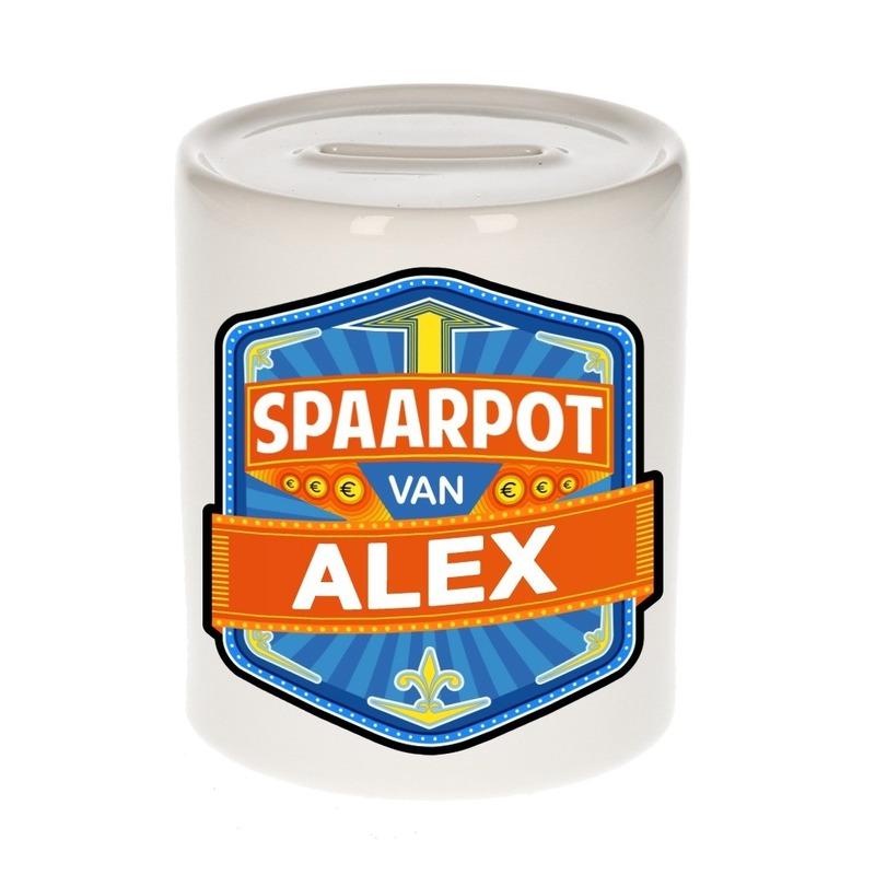 Gekleurde Alex spaarpotten voor kinderen