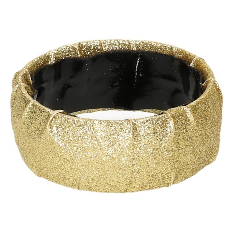 Glitter armbandje in gouden kleur