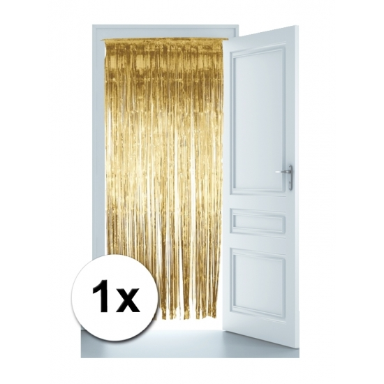 Glitter deurgordijnen in het goud