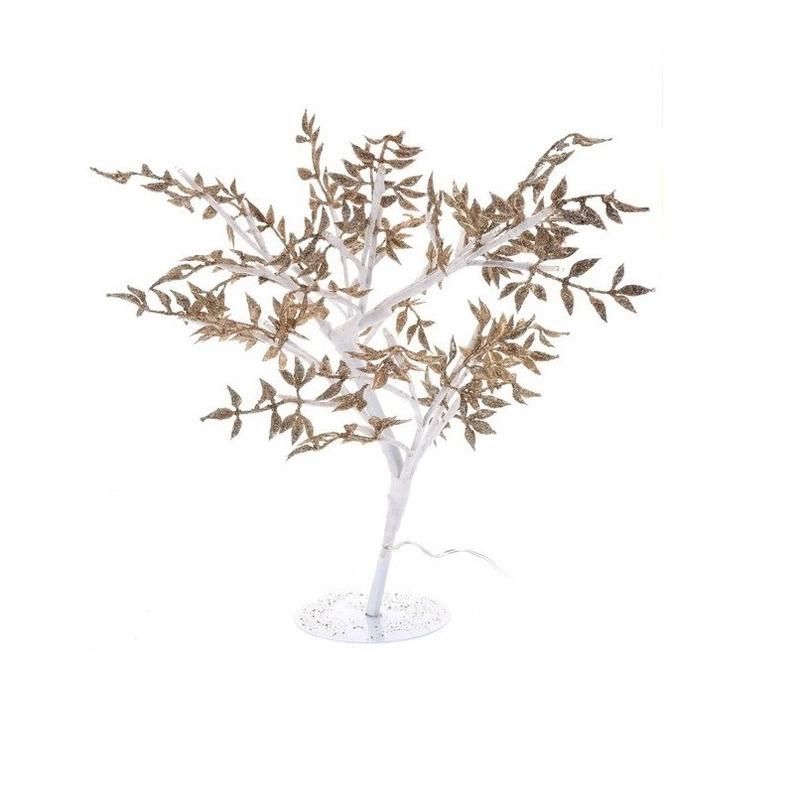 Gouden boompje met LED lichtjes 47 cm