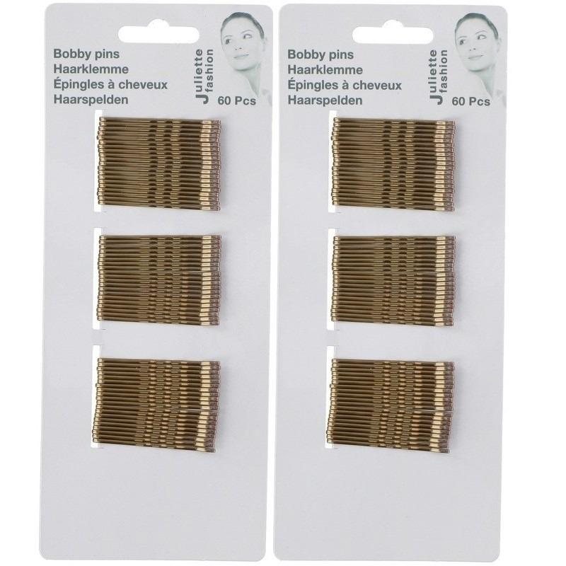 Gouden schuifspeldjes-haarspelden 5 cm 120 stuks