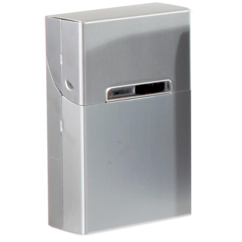 Grijs sigarettendoosje aluminium