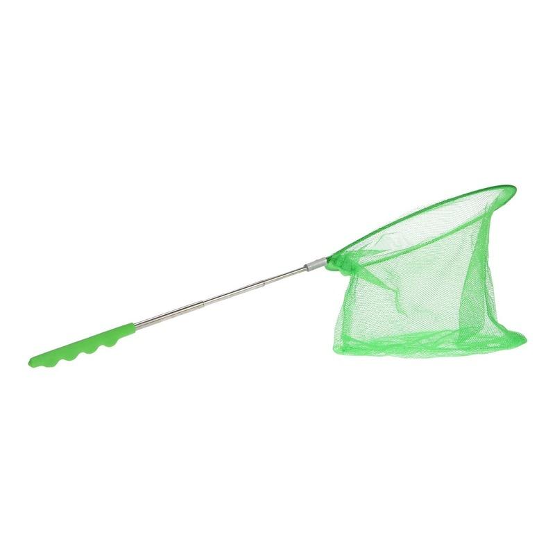 Groen uitschuifbaar visnet-vlindernet 36 cm