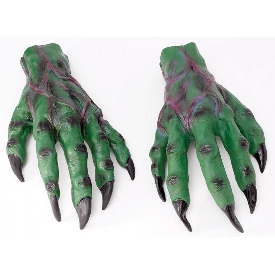 Groene horror handen