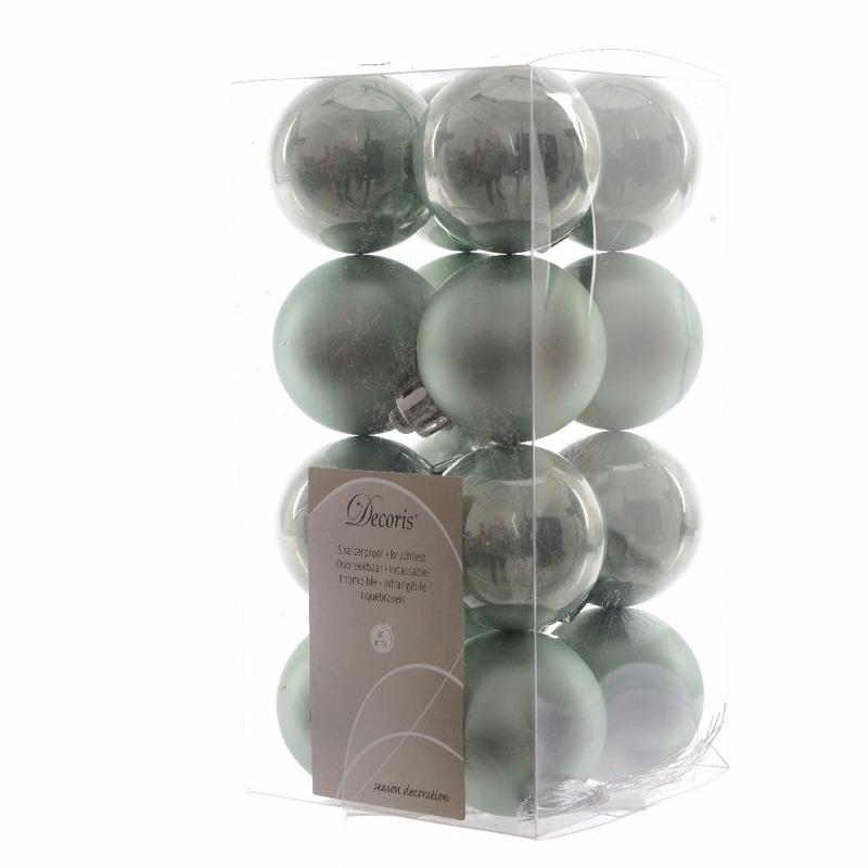 Groene kerstballen 4 cm