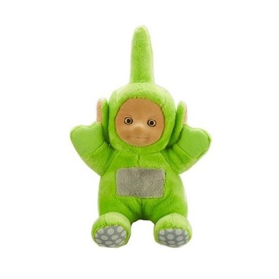 Groene Teletubbie Dipsy knuffel-pop met geluid 20 cm