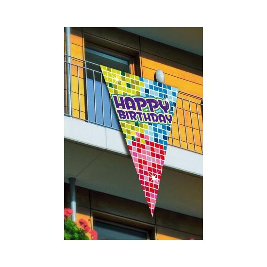 Grote decoratie vlag Happy Birthday