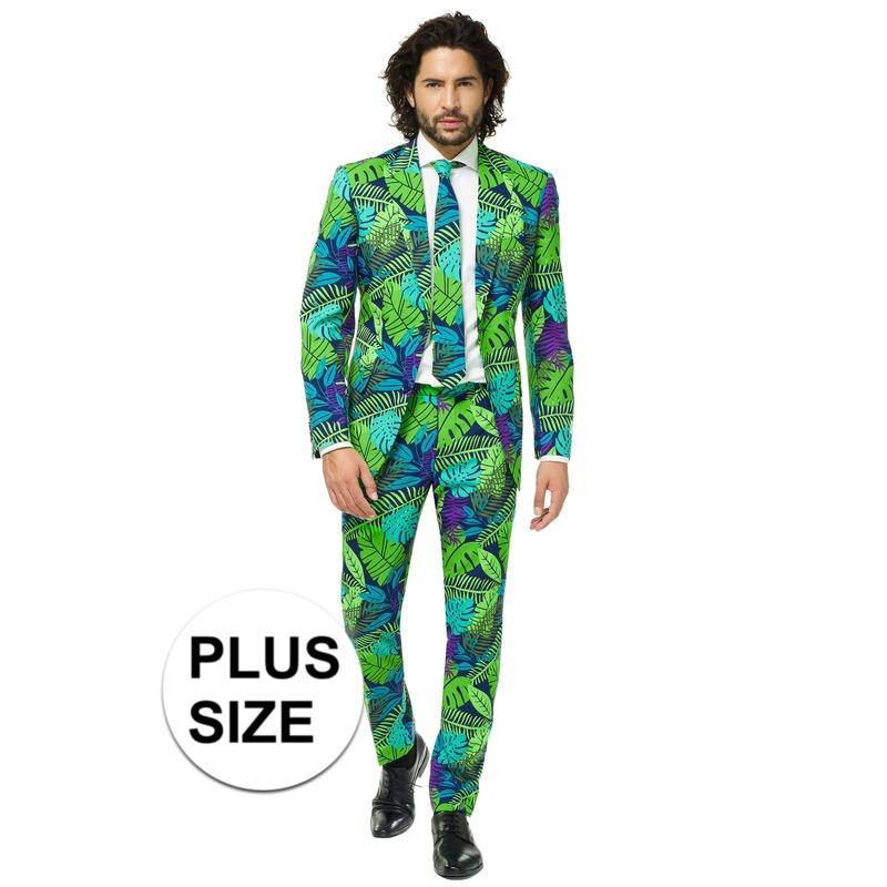 Grote maten heren verkleed pak-kostuum jungle print