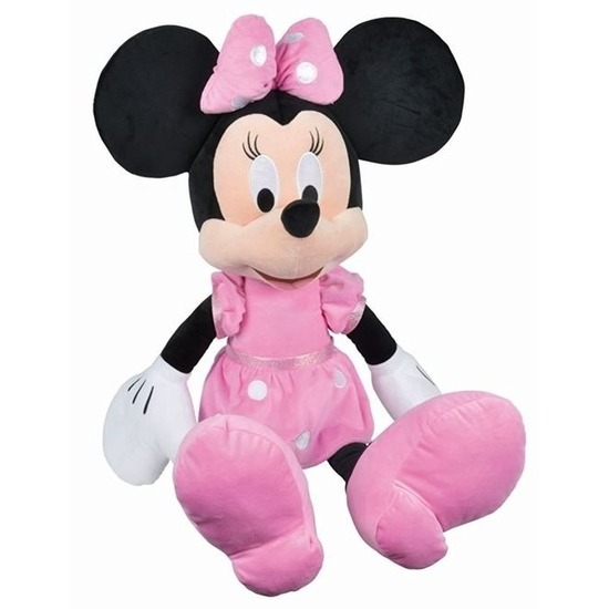 Grote pluche Minnie Mouse Disney knuffel 80 cm