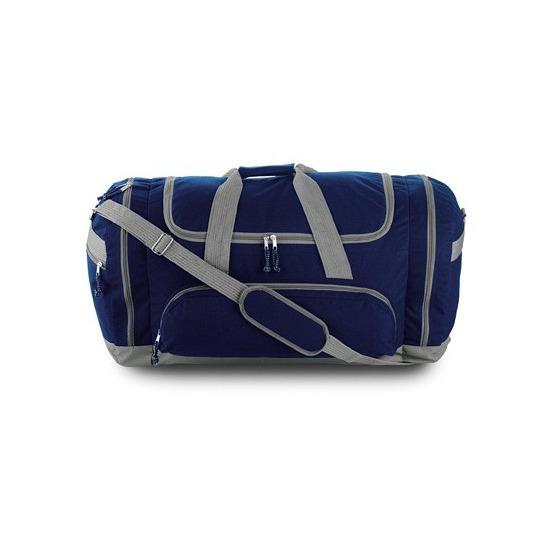 Grote sporttas reistas blauw-grijs 69 cm