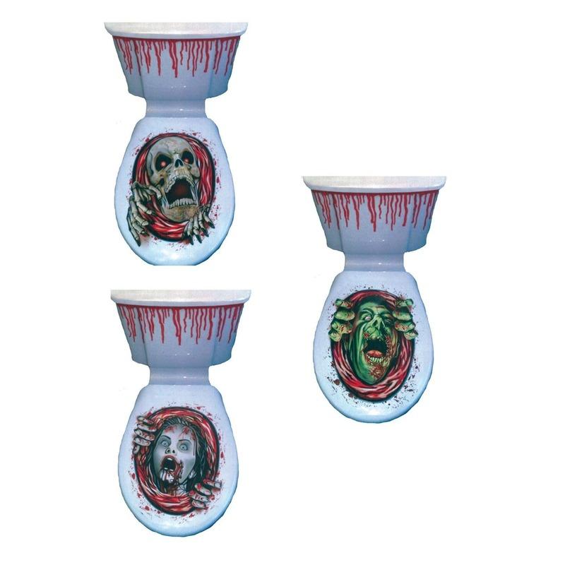 Halloween decoratie voor op de wc
