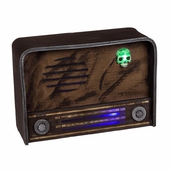 Halloween Horror radio decoratie met licht en geluid
