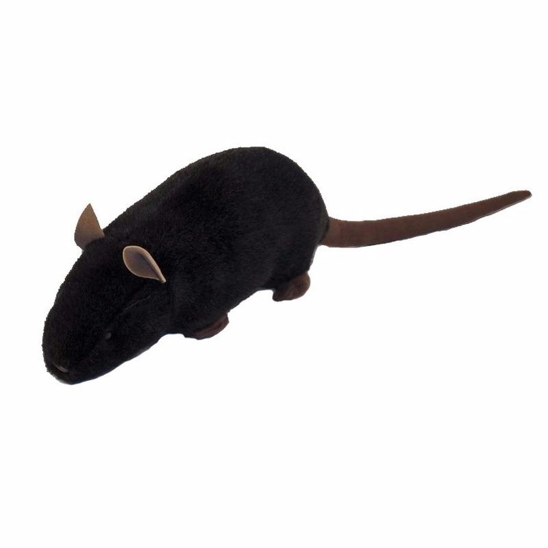 Halloween Pluche zwarte rat knuffel 56 cm