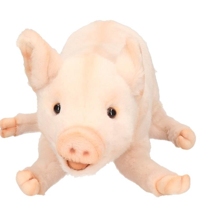 Hansa pluche big-varken knuffel liggend 28 cm