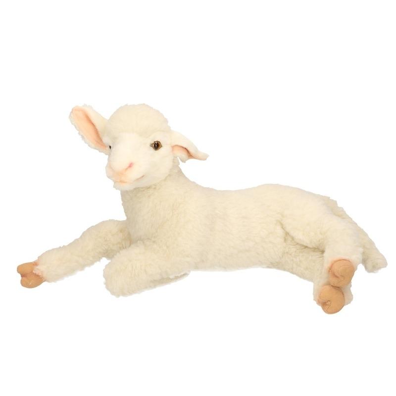 Hansa pluche lam-schaap knuffel liggend 33 cm