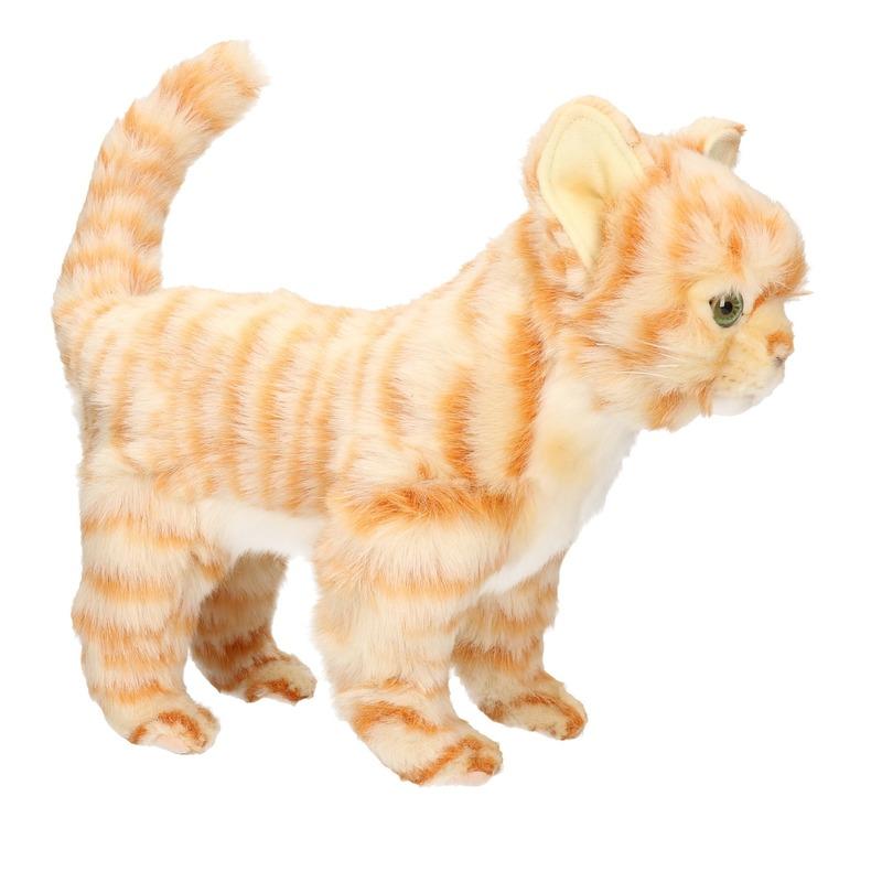 Hansa pluche rode kitten poes-kat knuffel 30 cm