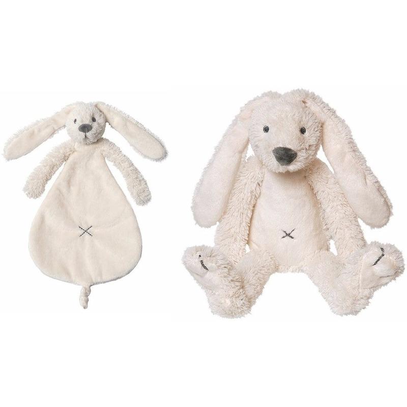 Happy Horse Richie konijn wit knuffeldoekje en knuffel