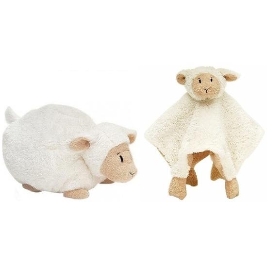 Happy Horse schaap-lammetje wit knuffeldoekje en knuffel liggend