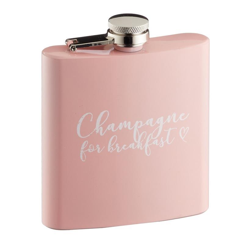 Heupfles Champagne for breakfast 170 ml voor vrijgezellenfeestje