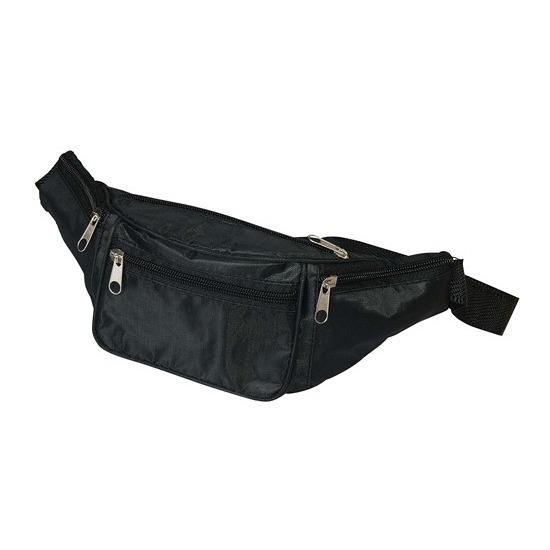 Heuptasje-fanny pack zwart 29 x 10 x 6 cm festival musthave