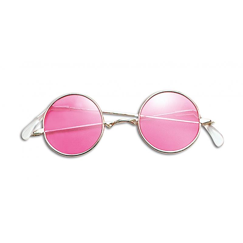 9235138d03385e Hippiebril met roze glazen in Fun   Feest brillen winkel