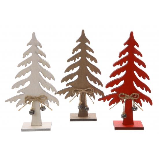 Houten kerstboom wit 25 cm