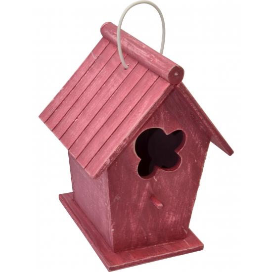 Houten vogelhuisje rood 24 cm Capshopper Premier