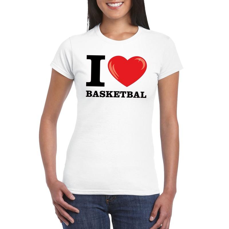 I love basketbal t-shirt wit dames