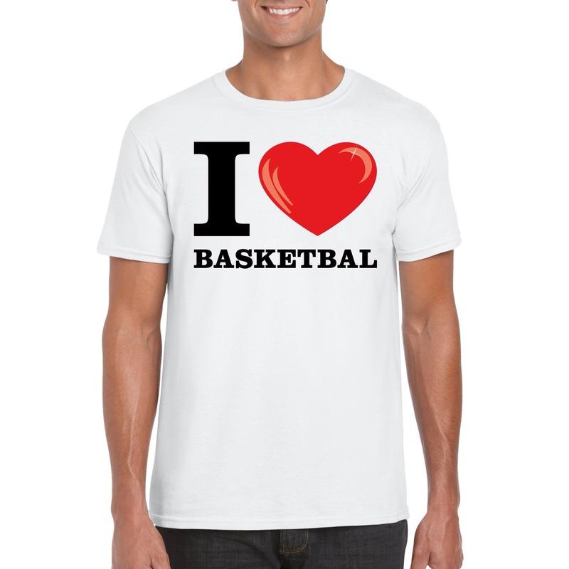 I love basketbal t-shirt wit heren