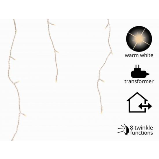 Ijspegel verlichting warm wit buiten 175 lampjes