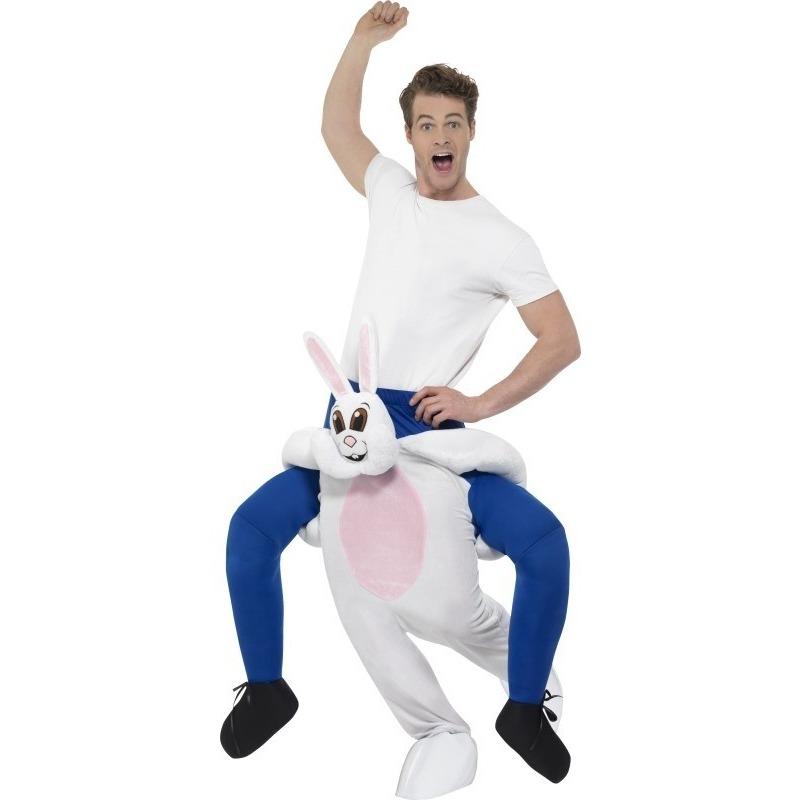 Instap dierenpak kostuum konijn-haas voor volwassenen