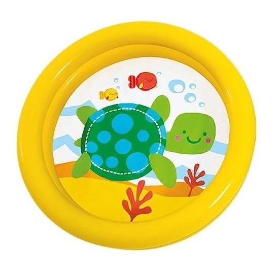 Intex baby-kinder opblaas zwembad geel 61 cm