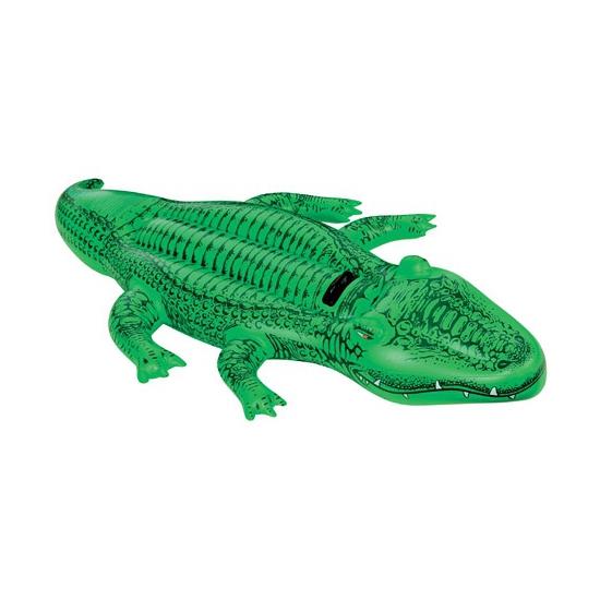 Intex opblaasbare krokodil 168 cm ride-on speelgoed