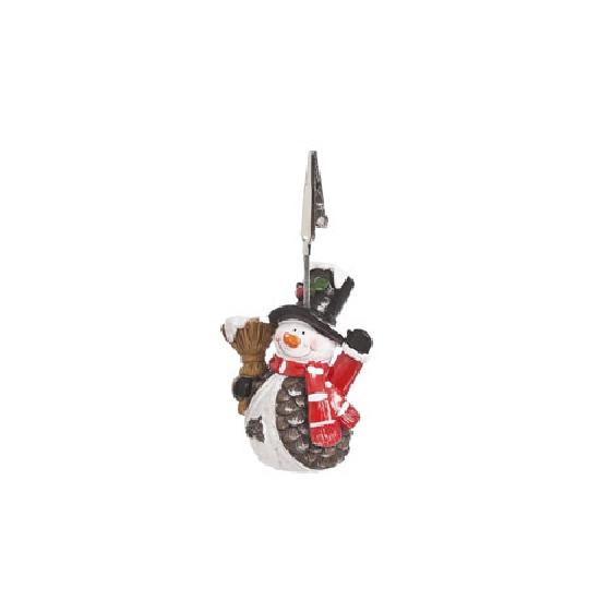 Kaarthouder sneeuwpop 11 cm type 1