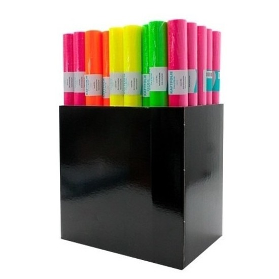 Kaftpapier folie schoolboeken neon oranje 3 meter