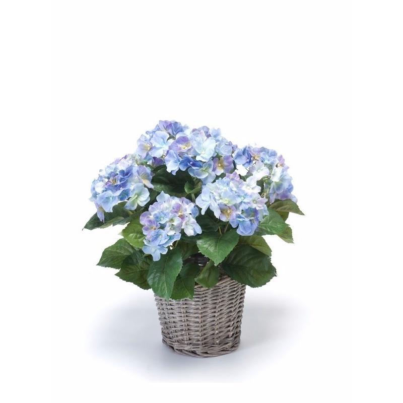 Kantoor decoratie Hortensia blauw 45 cm
