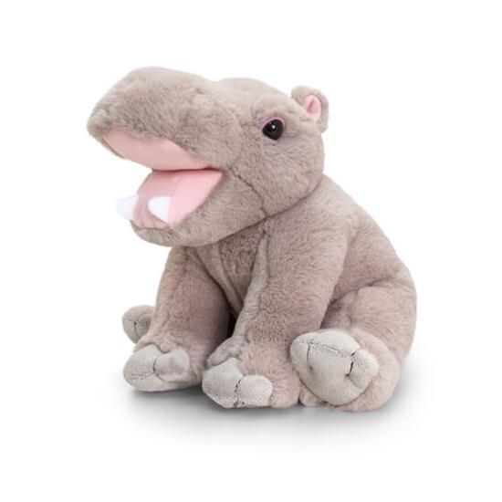 Keel Toys pluche nijlpaard knuffel zittend 25 cm