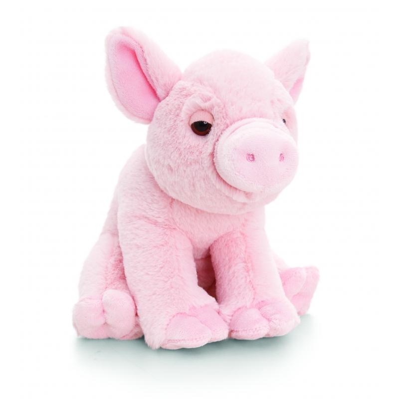 Keel Toys pluche varken knuffel met geluid 16 cm