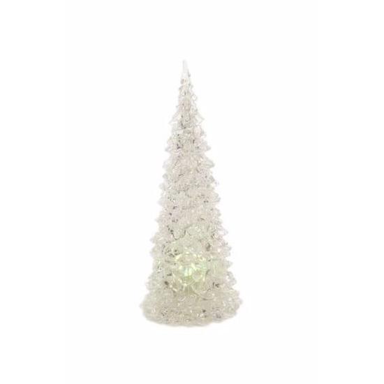Kerst kerstboompje met LED licht 23 cm multikleur