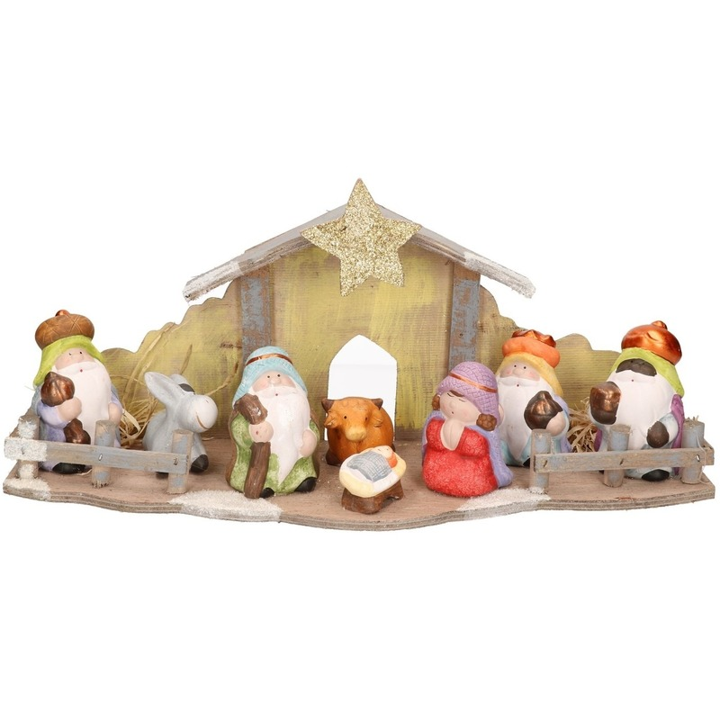 Kerst kerststal decoratie LED 20 cm