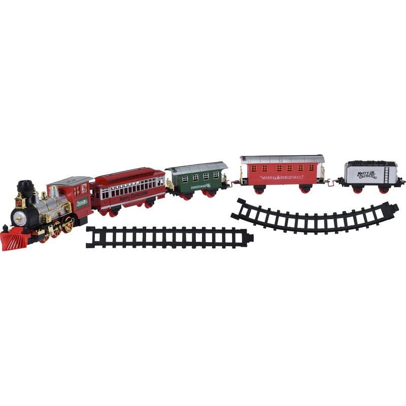 Kerstdecoratie verlichte trein met geluid Kersttreinen