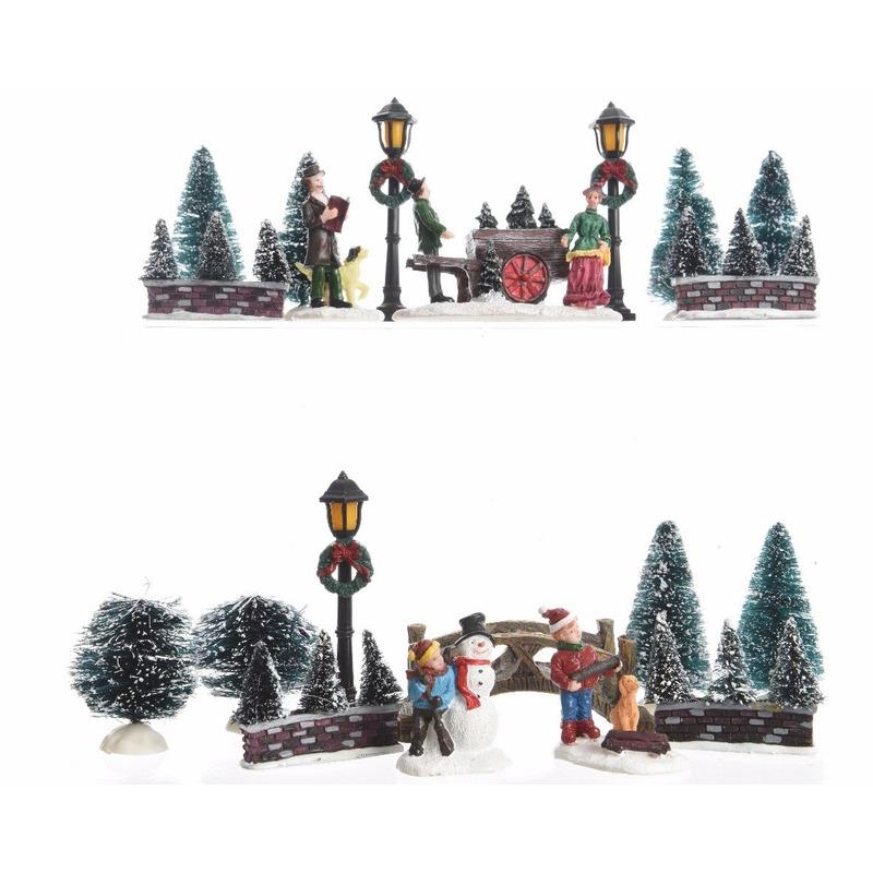 Kerstdorp maken parkje 31 cm type 2
