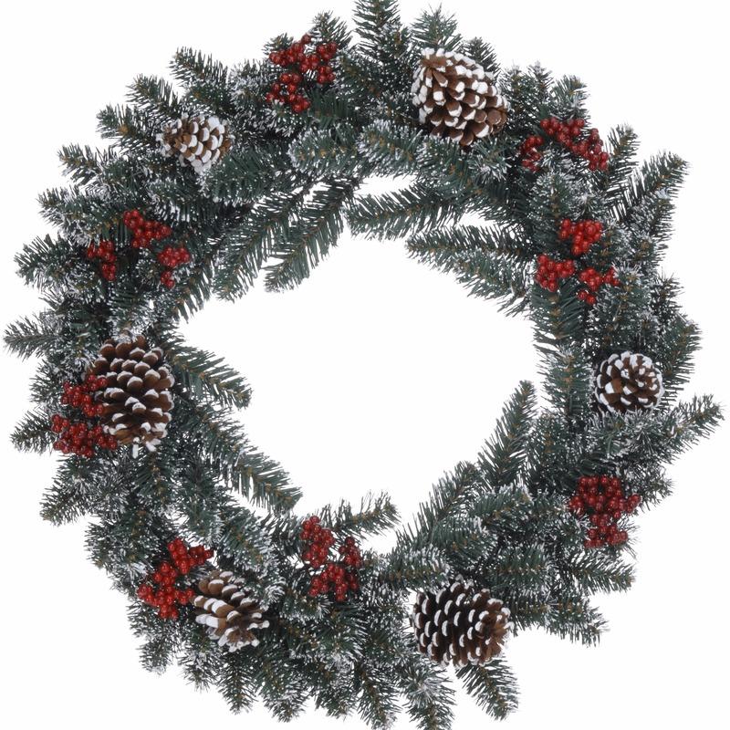 Kerstkrans dennentakjes 60 cm