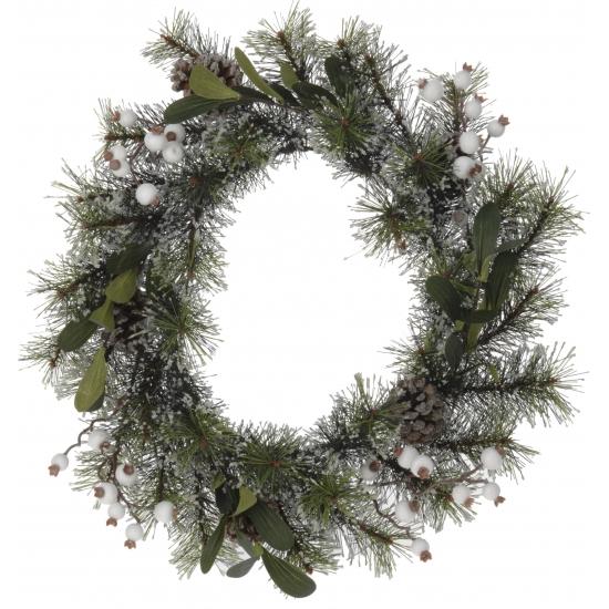 Kerstkrans met dennenappels 40 cm