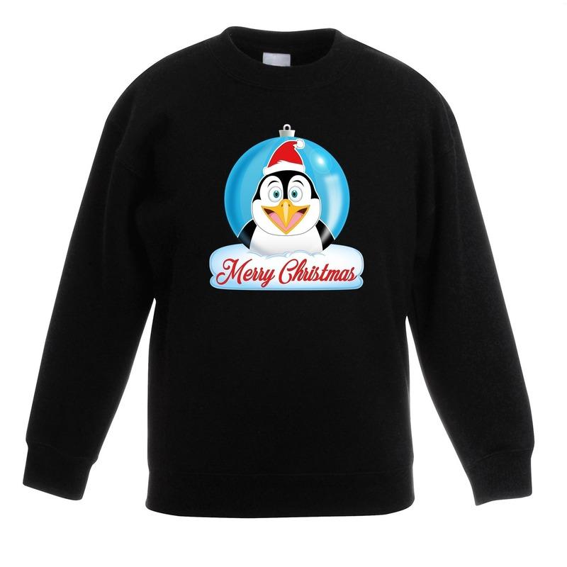 Kersttrui Vandaag Besteld Morgen In Huis.Kersttrui Merry Christmas Pinguin Kerstbal Zwart Kinderen In Kerst