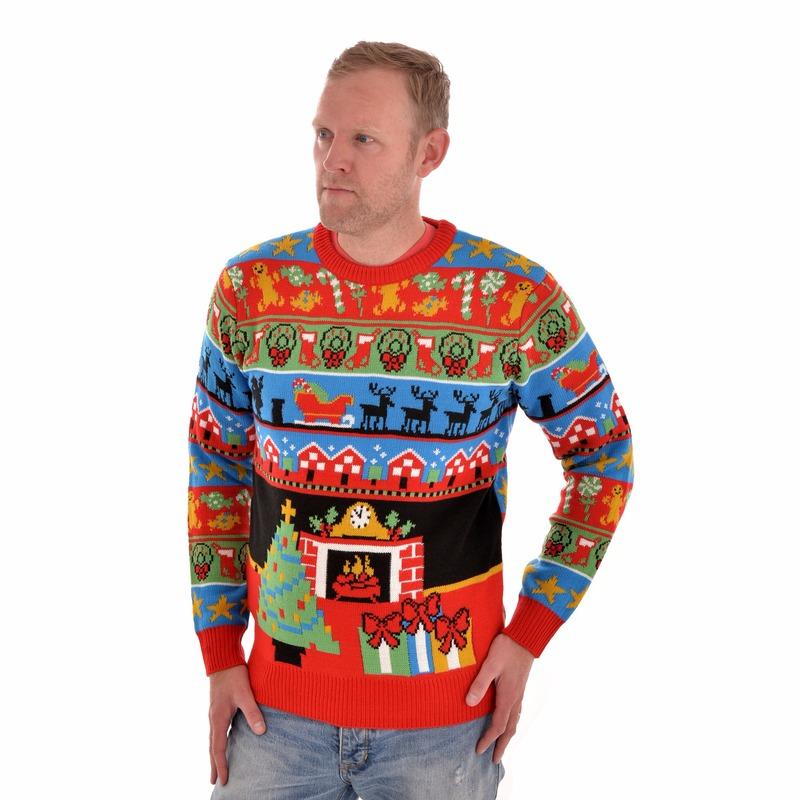 Kersttrui The Night Before Christmas voor mannen